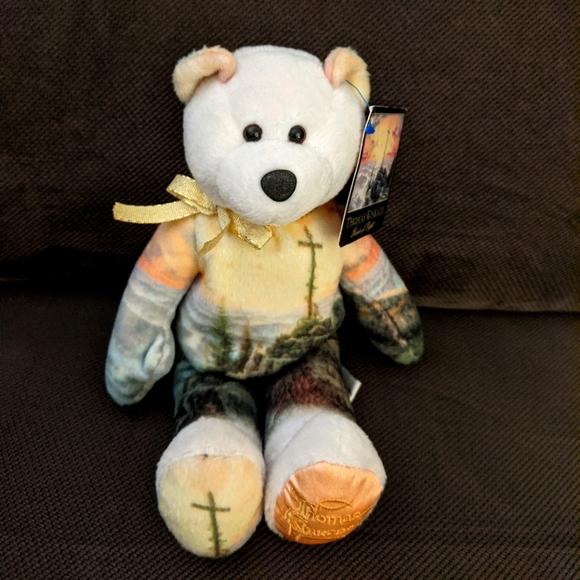 Thomas Kinkade Sunrise beanie bear